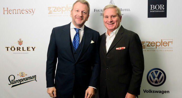 Schiffer Miklós és Yves Giacometti, a Four Seasons Hotel Gresham Palace vezérigazgatója. fotó: Schumy Csaba