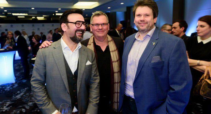 Gianni, Csíki Sándor, gasztronómiai szakíró, tanácsadó és Hamvas Zoltán, a  a Magyar Bocuse d'Or Akadémia elnöke. fotó: Schumy Csaba