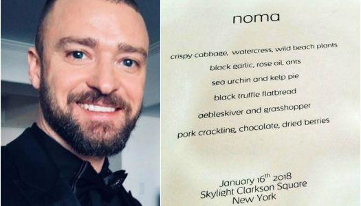 Hangya és szöcske a Noma találásában Justin Timberlake koncertjén